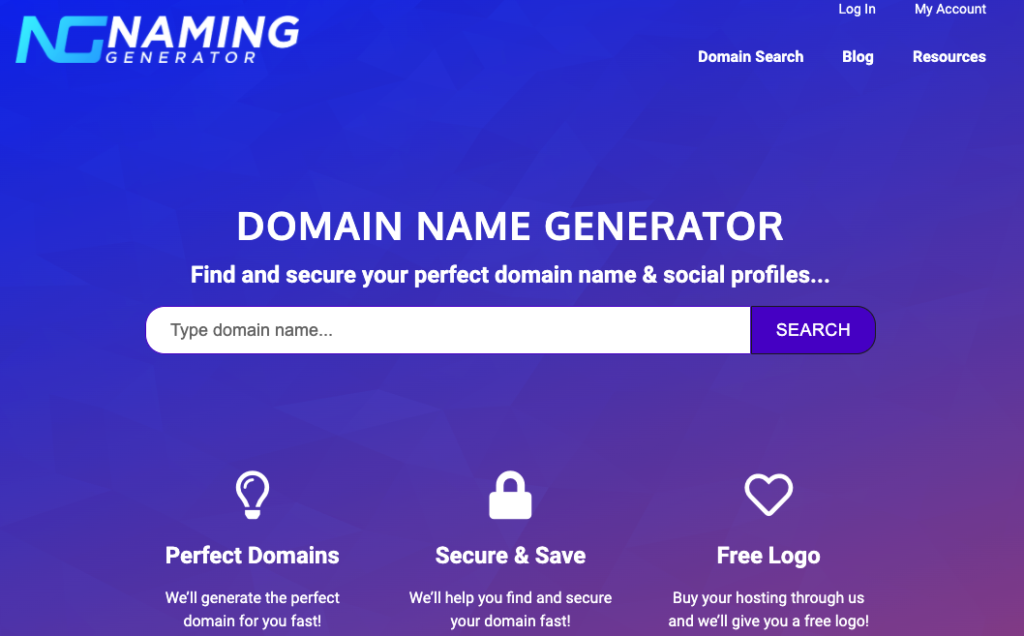 Naming Generator Domain Search Image