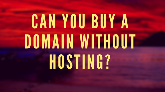can you buy a domain without hosting article banner