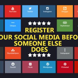 register your social media profiles banner