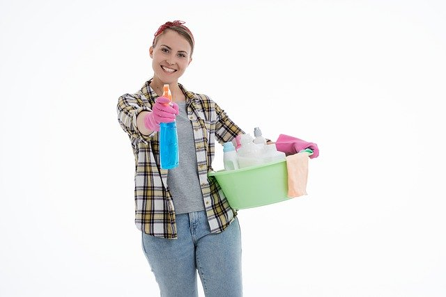 girl-windex target with pink gloves