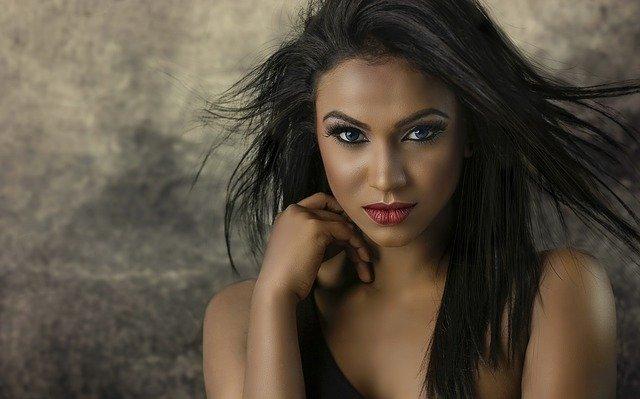 make up on beautiful women