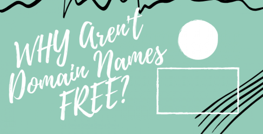 why aren't domain names free banner