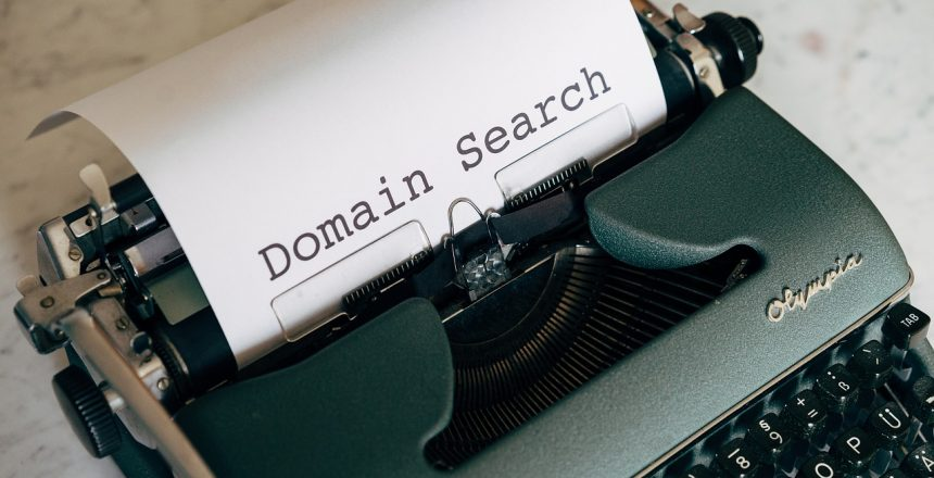 domain name matching business name blog banner